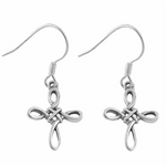 Womens girls and mens unisex Celtic Triquetra Cross Earrings