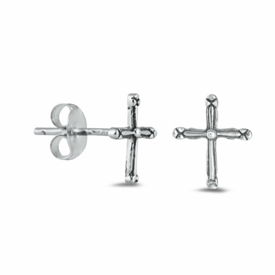 Womens and girls cross earrings