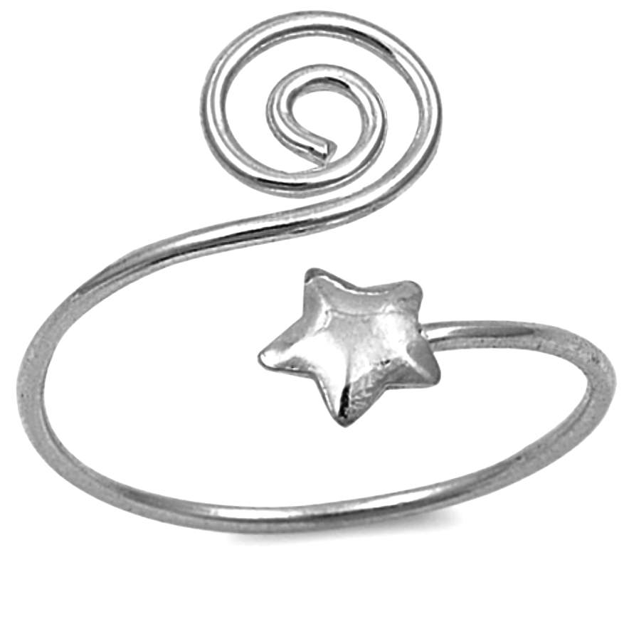 Spiral into a new universe with this star adjustable finger or toe ring