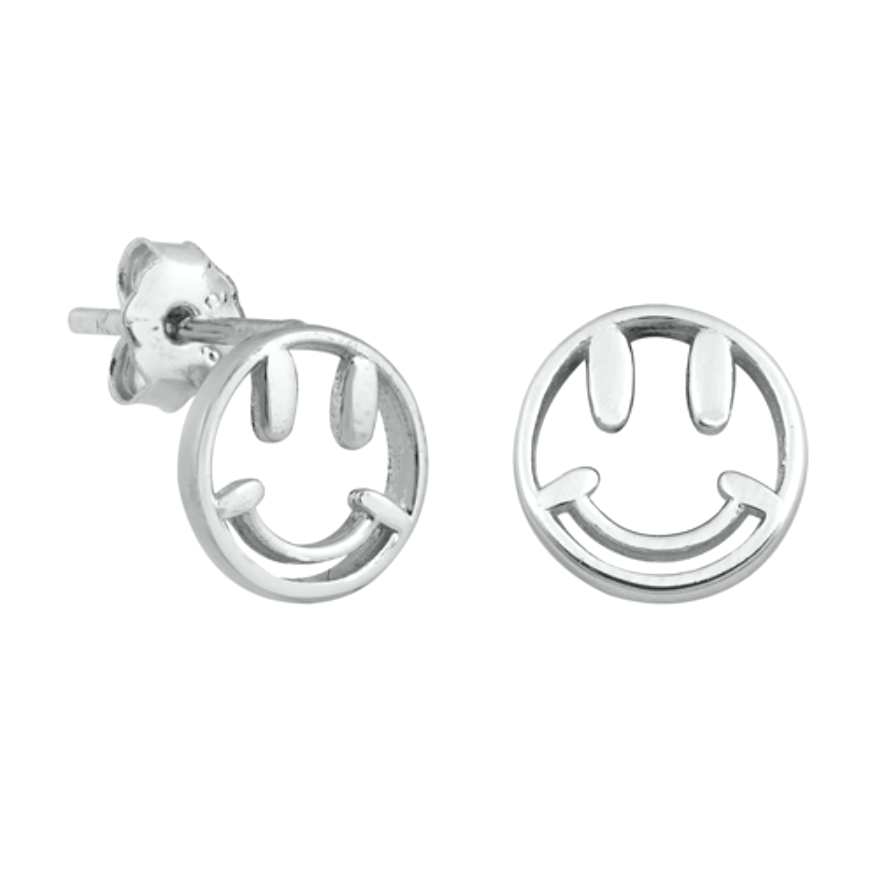 Womens and girls smiley face earrings