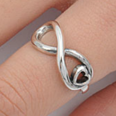 Womens heart ring