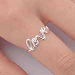 Womens love word ring