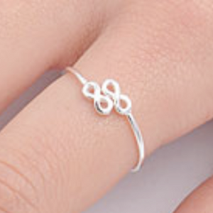 Womens double infinity wrap ring