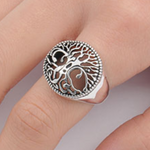 Mens and womens tree of life ring