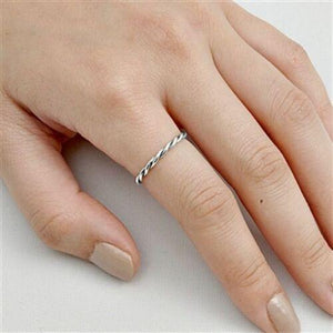 Ladies and kids twisted thin band ring