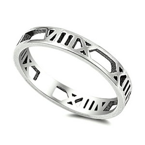 roman numeral eternity band