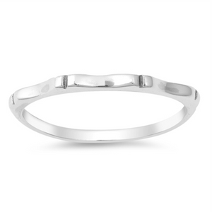 Womens bamboo band ring