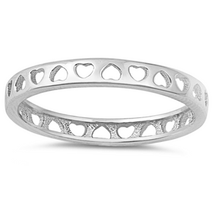 eternity heart band
