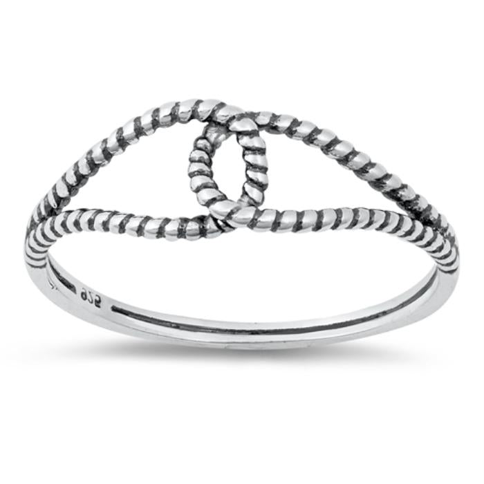 Womens Infinity rope loop ring