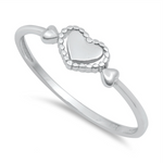 Womens and girls heart ring