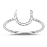 Simple horsehoe ring