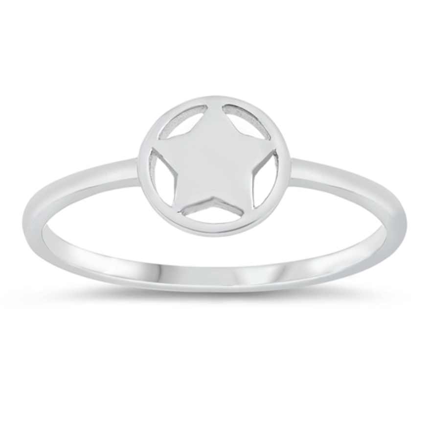 Womens and kids star circle ring