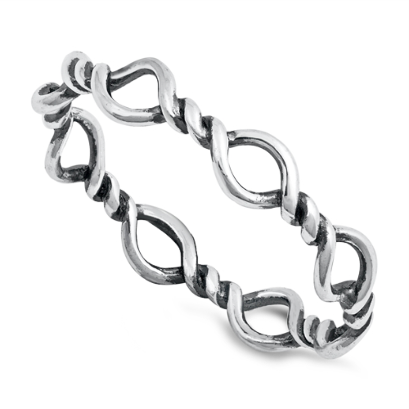 Barbed wire eternity ring