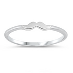 Womens and girls small mustache band ring