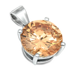 Champaign November Topaz birth stone pendant for girls and women