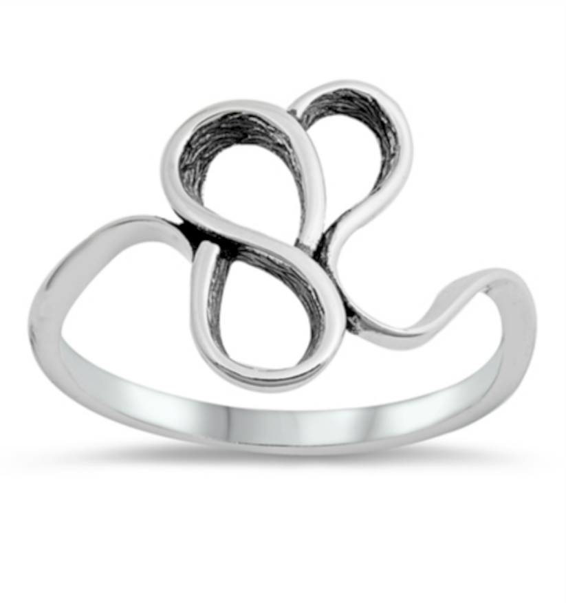 Unique fun infinity womens ring