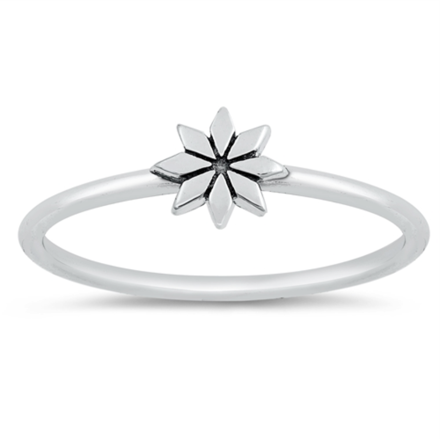 Womens and kids star flower ring