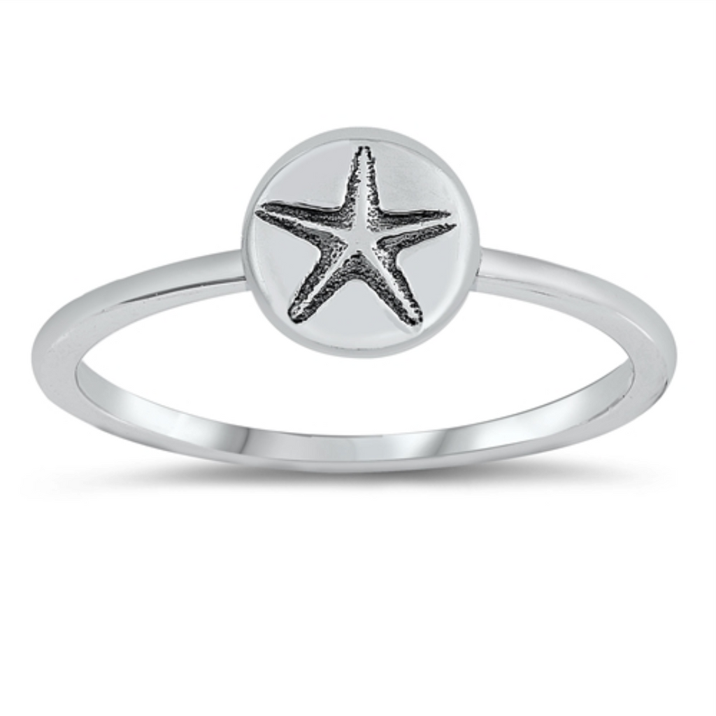 Womens and girls starfish ring