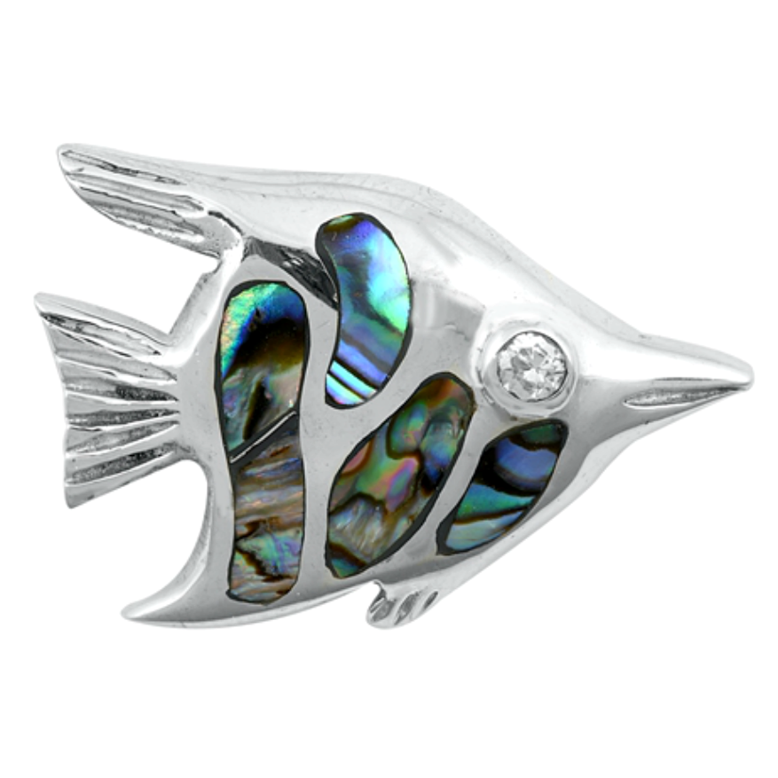 Womens and girls rainbow angel fish pendant