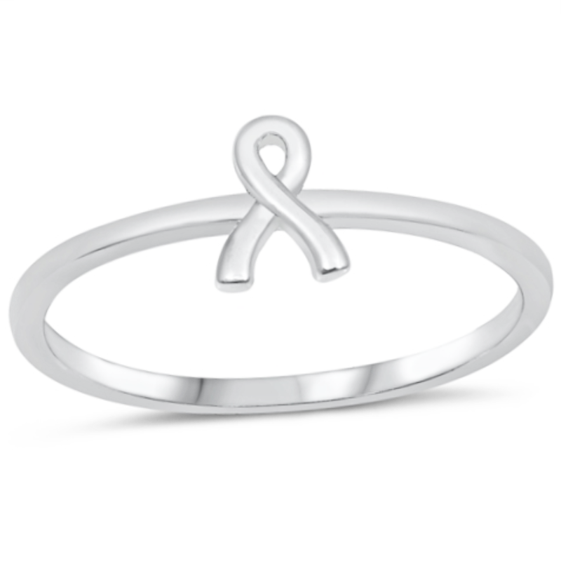 Cancer ribbon ring