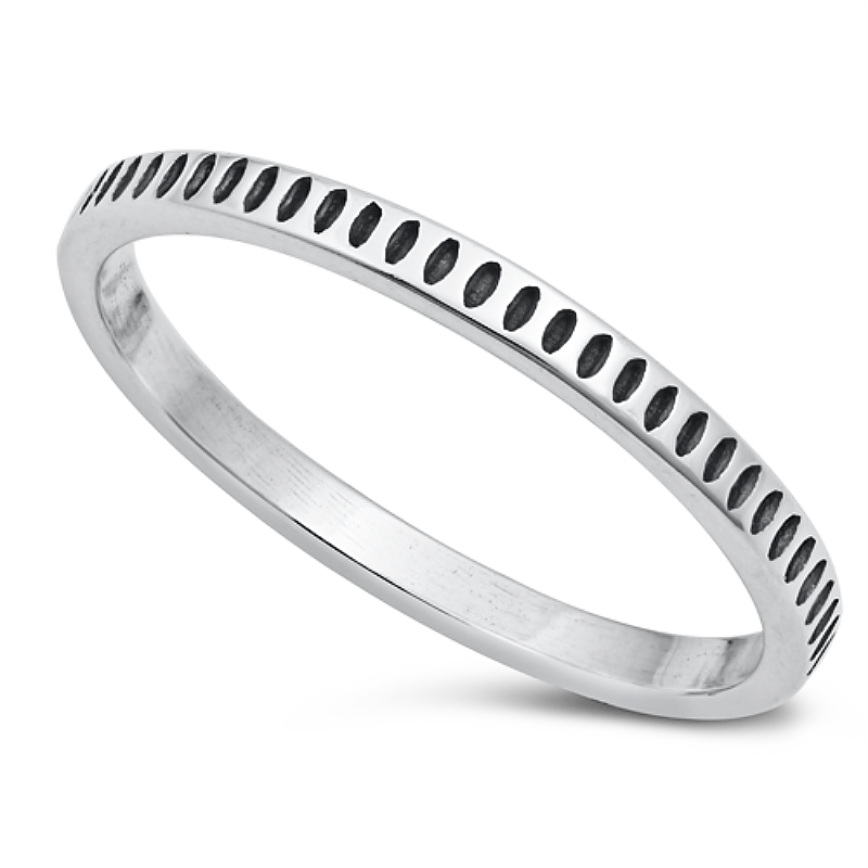 boho simple abstract eternity band