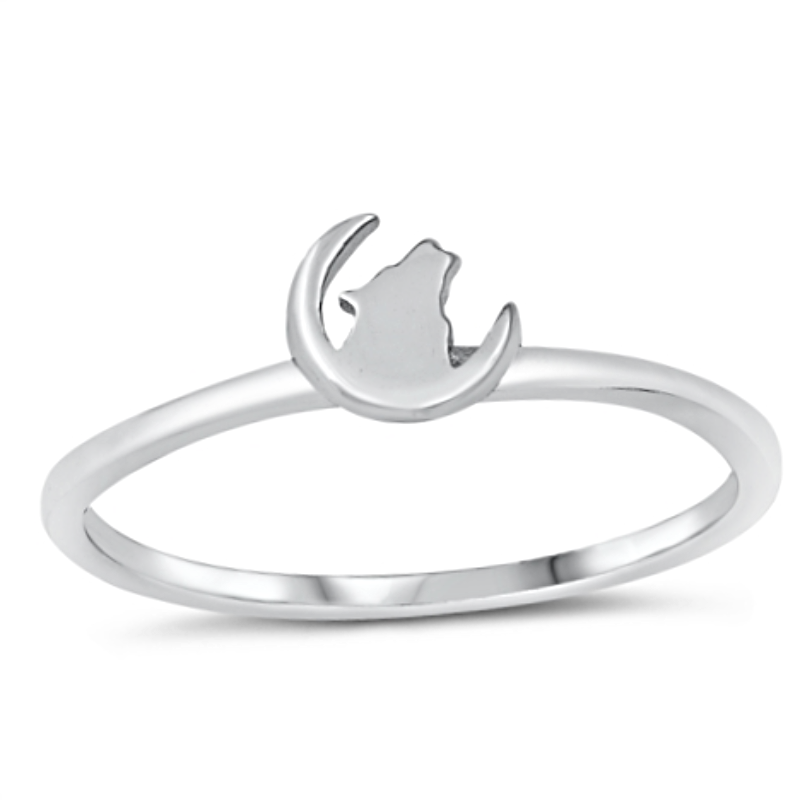 Wolf moon ring
