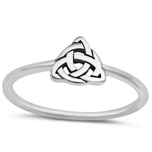 Celtic knot triangle triquetra ring