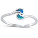 Womens and kids ocean waves ring