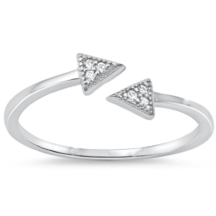 Triangle arrow ring