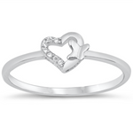Butterfly heart ring