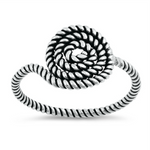 Don't get it twisted with our summery rope knot ring in sterling silver