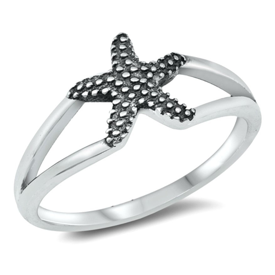 Summer chic Starfish fashion ring in .925 Silver