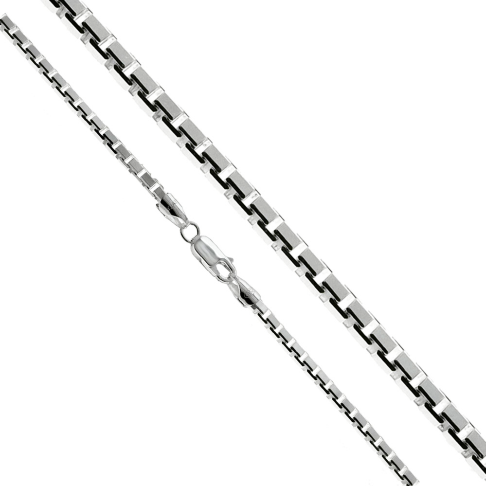 Our best selling Italian diamond cut chain shines from all 8 sides.  Flexible and non-twisting, these necklaces are durable as they are stylish.  Wear it alone or with your favorite pendant.  Metal quality: .925 Sterling Silver with stamped hallmark  Stones: None  Packaging: Comes in a pretty gift box  Made in Italy