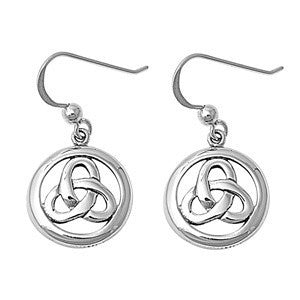 Sterling Silver Celtic Infinity Dangle Earrings - Blades and Bling Sterling Silver Jewelry