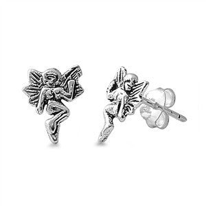 Sterling Silver Fairy Stud Earrings