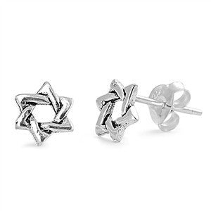 Sterling Silver Star of David Stud Earrings - Blades and Bling Sterling Silver Jewelry