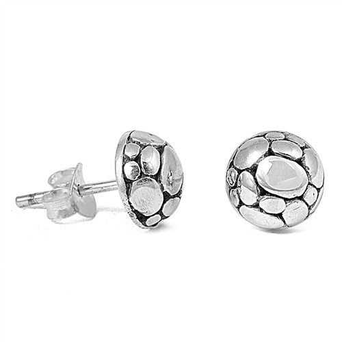 Sterling Silver Bali Dome Style Stud Earrings - Blades and Bling Sterling Silver Jewelry