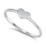 Classic itty bitty womens and girls silver heart ring