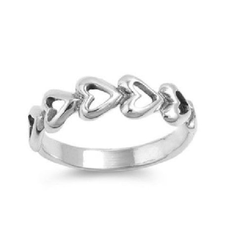 Sterling Silver CZ Infinity Heart Ring Size 1-5 - Blades and Bling Sterling Silver Jewelry