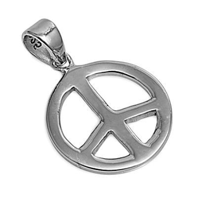 Sterling Silver Peace Sign Symbol pendant - Blades and Bling Sterling Silver Jewelry
