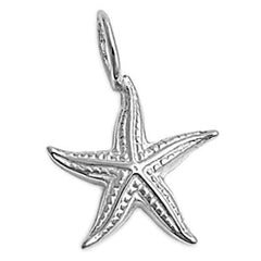 Sterling Silver Detailed Starfish pendant (Star Fish)