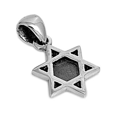 Sterling Silver Tiny Star of David pendant - Blades and Bling Sterling Silver Jewelry