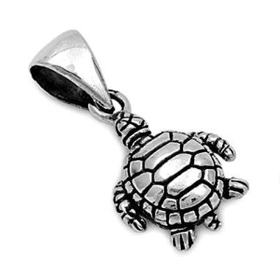 Sterling Silver Baby Turtle pendant - Blades and Bling Sterling Silver Jewelry