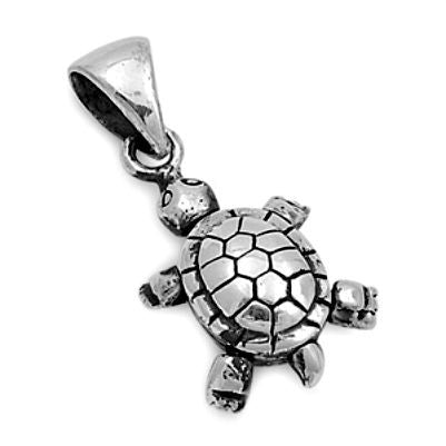 Sterling Sivler Itty Bitty Tiny Turtle pendant