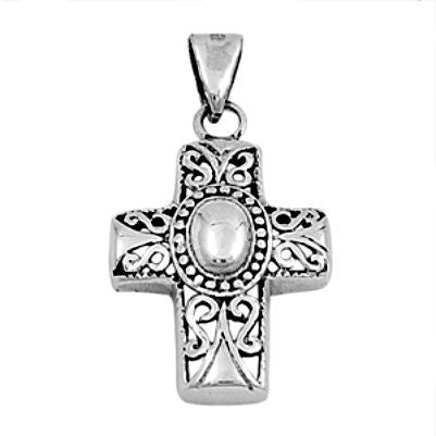 Sterling Silver Southwestern Cross Crucifix Religious pendant - Blades and Bling Sterling Silver Jewelry
