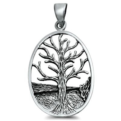 Sterling Silver Tree of Life Journey pendant  (Yggdrasil)
