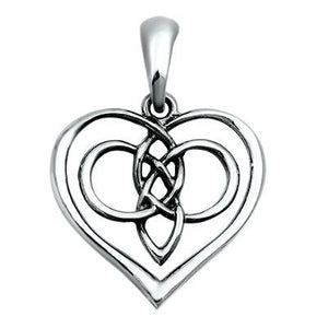 Sterling Silver Twisted Heart Celtic Knot Mother pendant