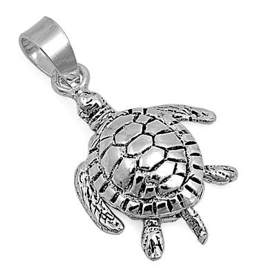 Sterling Silver Sea Turtle pendant - Blades and Bling Sterling Silver Jewelry