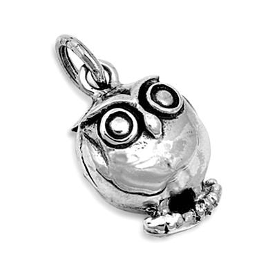 Sterling Silver Tiny Cute Owl pendant - Blades and Bling Sterling Silver Jewelry