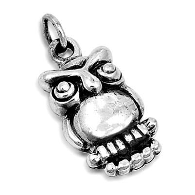 Sterling Silver Wise Old Owl on Branch pendant